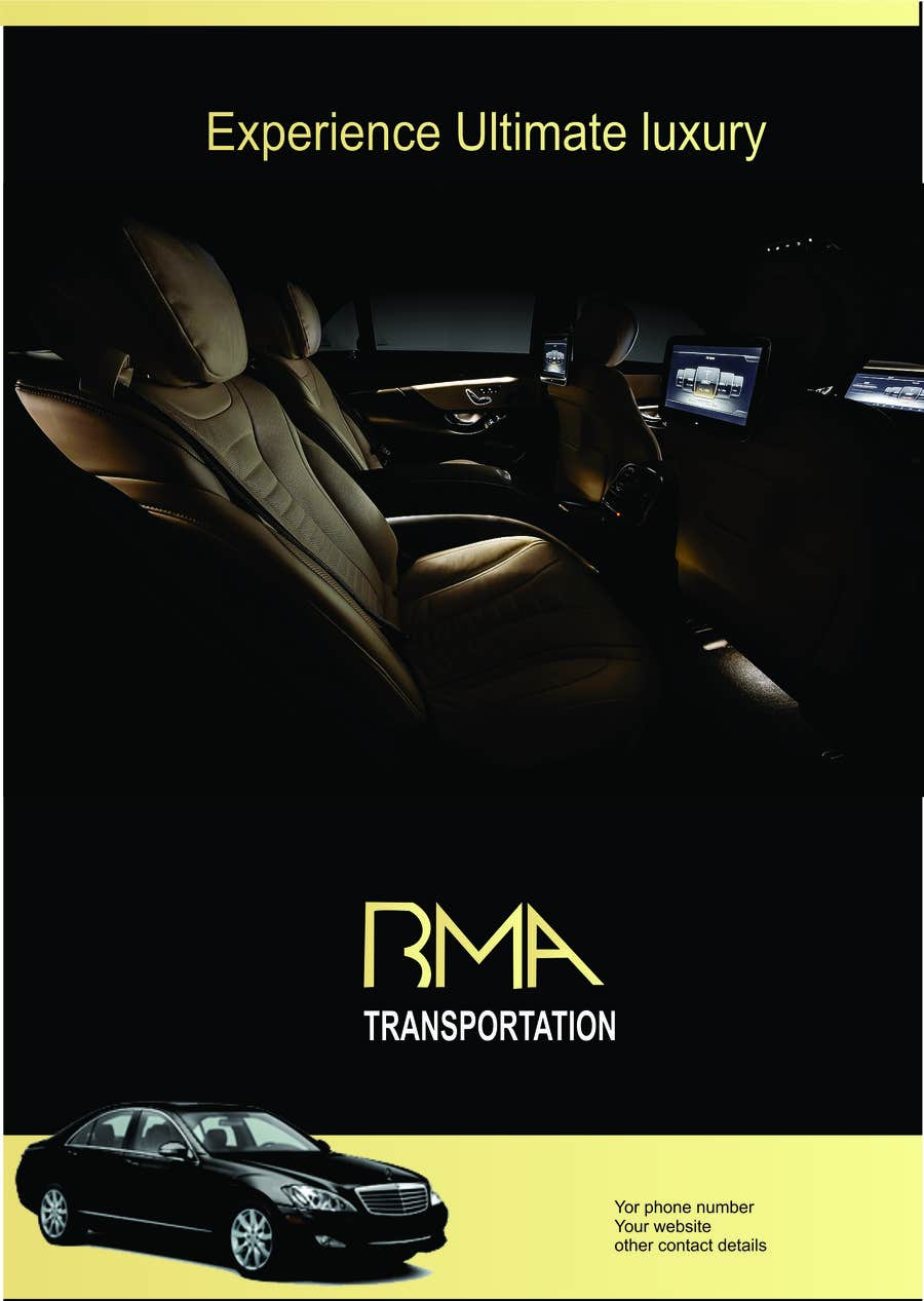 Kilpailutyö #78 kilpailussa Design an Advertisement for a car service and limo company