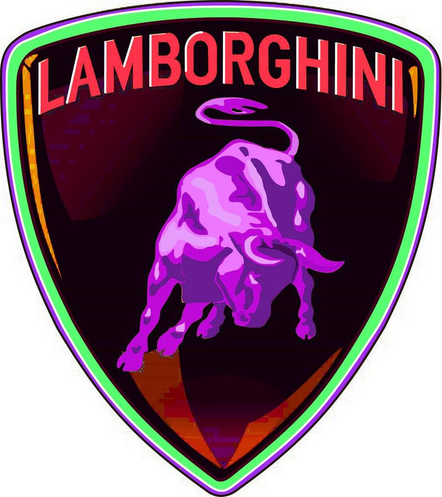Contest Entry #                                        7                                      for                                         Illustrate a Painted Lamborghini Logo Design