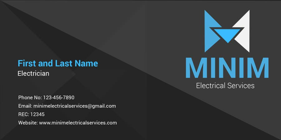 Konkurrenceindlæg #                                        6                                      for                                         Design some Business Cards for New Electrical Business