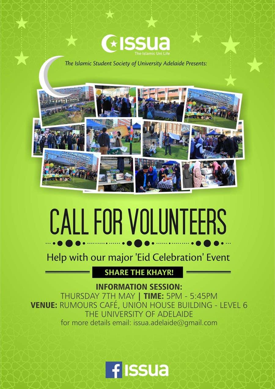 Penyertaan Peraduan #16 untuk 'Call for Volunteers' - Islamic Flyer