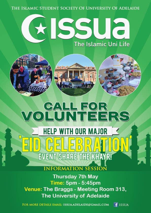 Penyertaan Peraduan #6 untuk 'Call for Volunteers' - Islamic Flyer