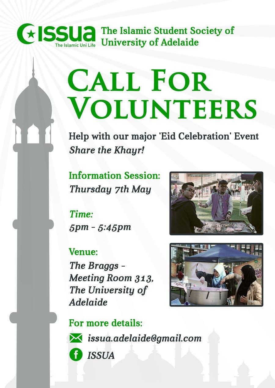 Penyertaan Peraduan #10 untuk 'Call for Volunteers' - Islamic Flyer