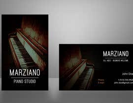#19 para Design some Business Cards for a Piano teaching business por bartdebrouwer