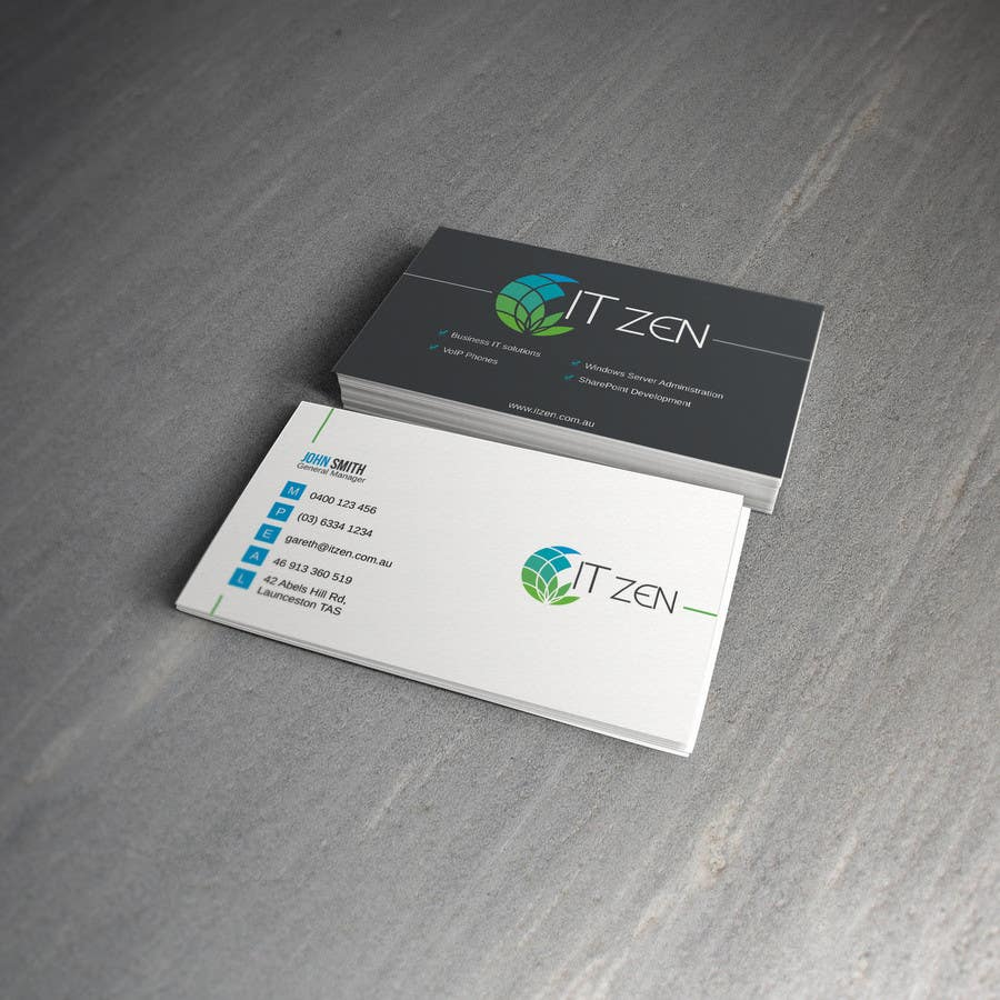 Konkurrenceindlæg #78 for Design some Business Cards for IT Zen