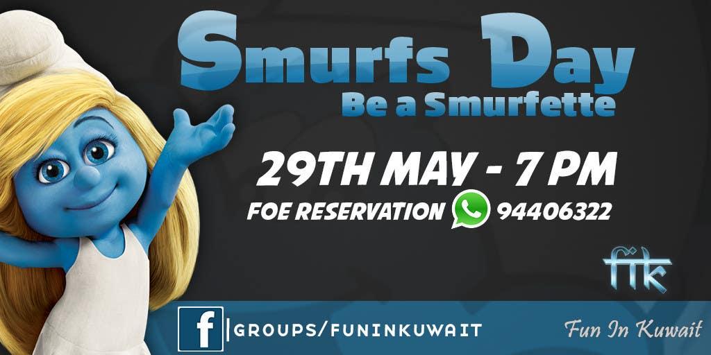 Konkurrenceindlæg #                                        11                                      for                                         Design a Banner for an Smurf Event