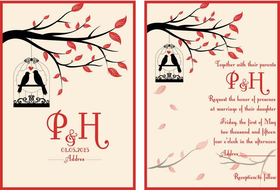 Konkurrenceindlæg #                                        2                                      for                                         Wedding Invitation design needed