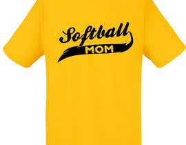 #15 para Design a T-Shirt for softball moms por talhafarooque