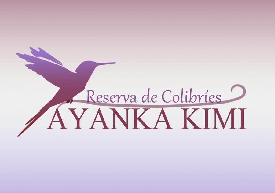 "Bài tham dự cuộc thi #34 cho Diseñar un logotipo para una reserva de Colibríes llamada ""Reserva de Colibríes Ayanka Kimi"""