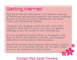 #9 para DL Colour Flyer Design for Wedding Florist por alidicera