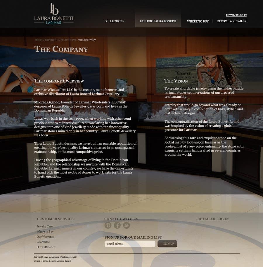 Inscrição nº 5 do Concurso para Design a Website Mockup