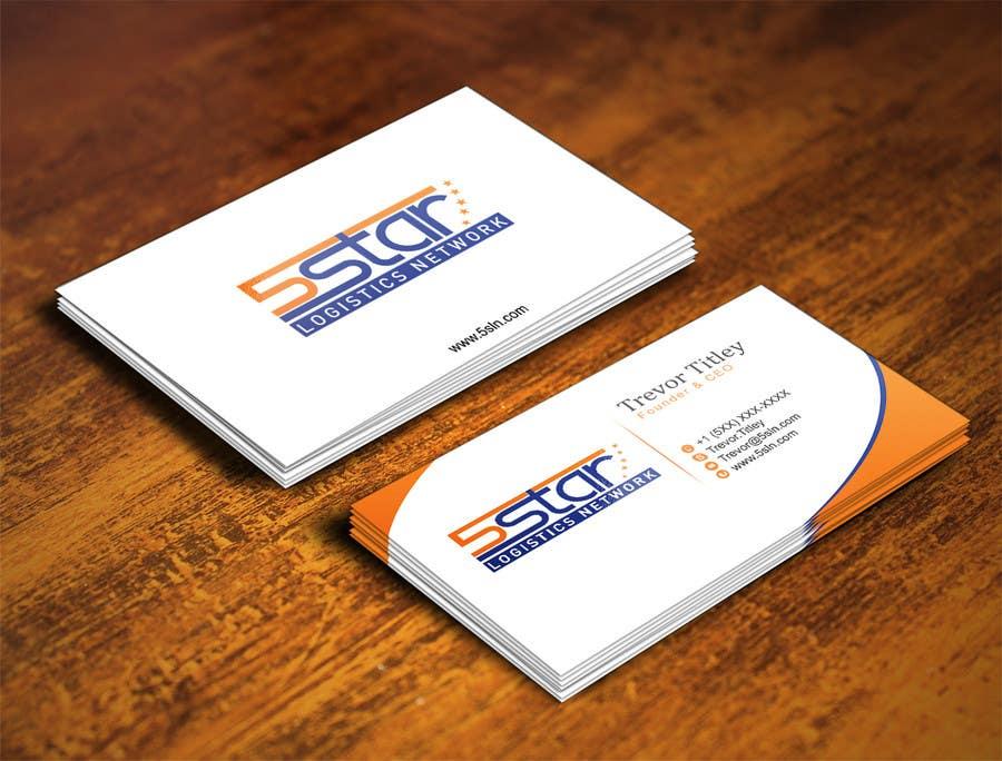 Konkurrenceindlæg #                                        23                                      for                                         Design some Business Cards for 5 Star Logistics Network