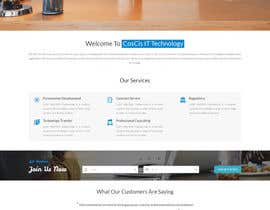 oceanganatra tarafından Design a Website Mockup for CosCis IT Technology için no 8