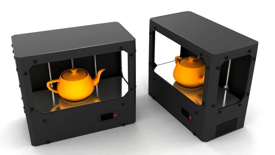 Konkurrenceindlæg #                                        10                                      for                                         Illustrator needed for the design of a futuristic 3D Printer
