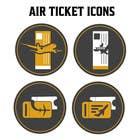 Graphic Design Kilpailutyö #24 kilpailuun Design Icons for travel website