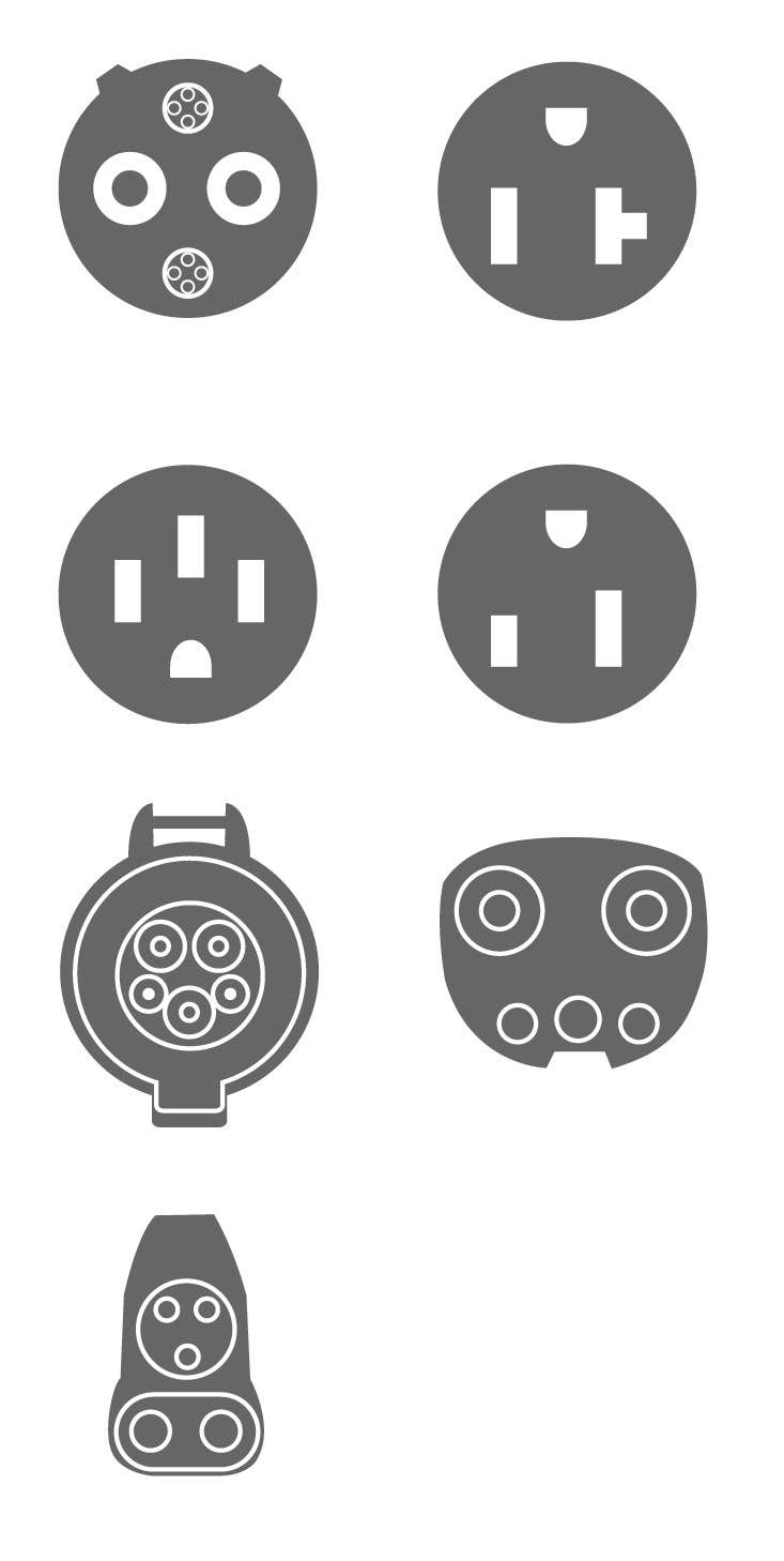 Bài tham dự cuộc thi #3 cho Design some Icons for Electrical Connectors