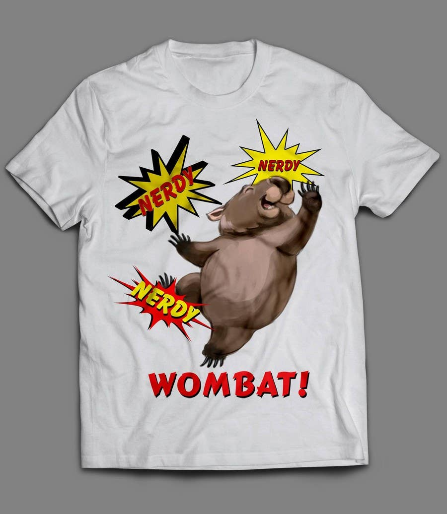Konkurrenceindlæg #                                        4                                      for                                         Design Wombat T-Shirt