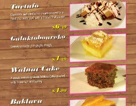 #7 for Design a Dessert Menu for Mykonos Greek Restautant af emilio357