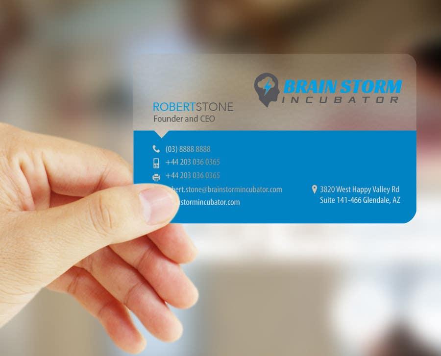 Inscrição nº 18 do Concurso para Design some Business Cards for BrainStorm Incubator