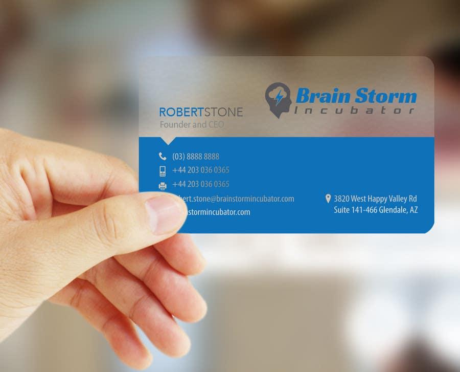 Inscrição nº 37 do Concurso para Design some Business Cards for BrainStorm Incubator