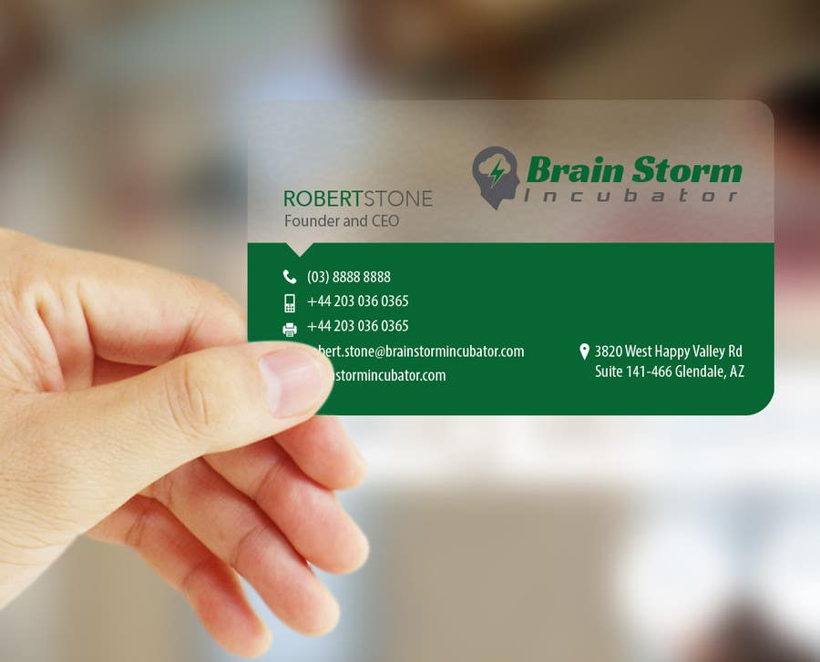 Entry 49 by logosuit for design some business cards for brainstorm contest entry 49 for design some business cards for brainstorm incubator reheart Images