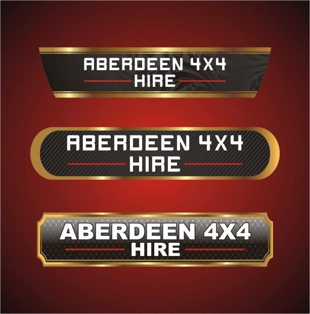Proposition n°                                        21                                      du concours                                         Design a Logo for Aberdeen 4x4 Hire