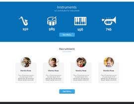 Nro 11 kilpailuun Design en mockup av en nettside for KORPSPARTNER käyttäjältä webcafegraphics
