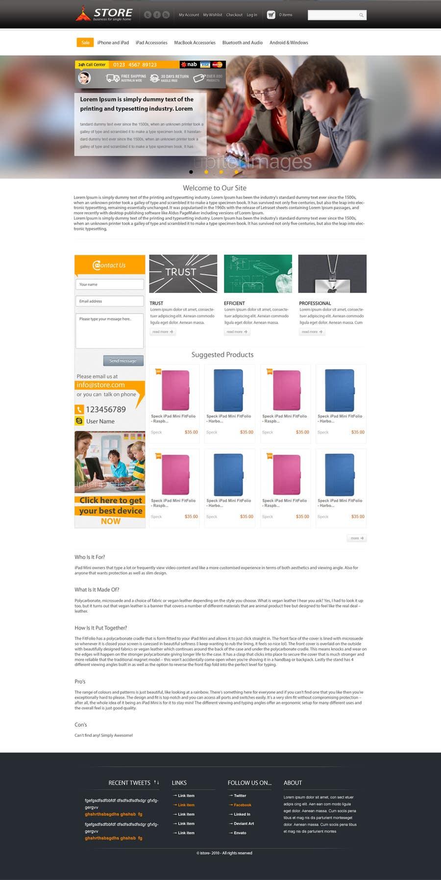 Inscrição nº                                         18                                      do Concurso para                                         Single page design for webpage