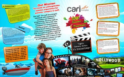#34 untuk Design a Fun Daycamp brochure themed around 'SHOWTIME' oleh msdvenkat