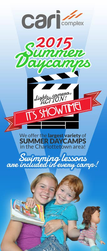 Contest Entry #38 for Design a Fun Daycamp brochure themed around 'SHOWTIME'