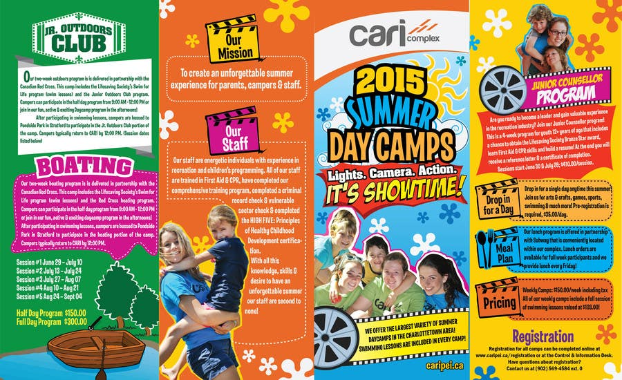Contest Entry #                                        39                                      for                                         Design a Fun Daycamp brochure themed around 'SHOWTIME'