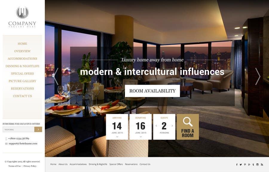 Konkurrenceindlæg #                                        15                                      for                                         Design a Website Mockup for Hotel