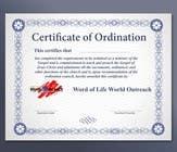 Bài tham dự #24 về Graphic Design cho cuộc thi Design a Ordination Cirtifcate