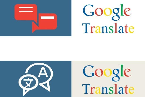 Contest Entry #                                        7                                      for                                         Design Icon 100*25 showing google Translate, easy job