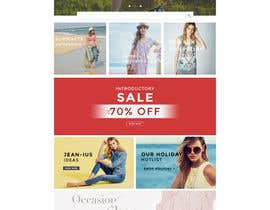 #2 para Design the homepage of Fashion eCommerce store por loiphamviet
