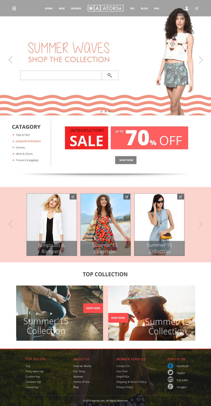 Contest Entry #                                        4                                      for                                         Design the homepage of Fashion eCommerce store
