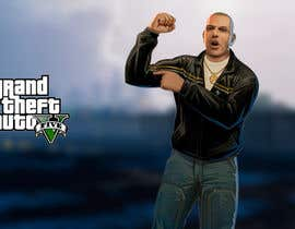 "#9 untuk Illustrate a provided character in ""Grand Theft Auto V""  poster style. oleh JDLA"