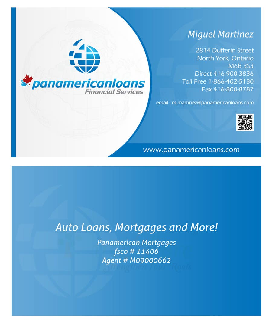 #11 for Design some Business Cards for Panamerican Loans by leadvisit