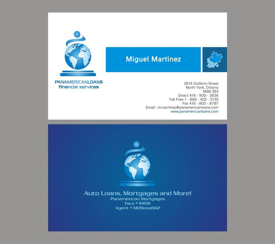 #13 for Design some Business Cards for Panamerican Loans by noelniel99