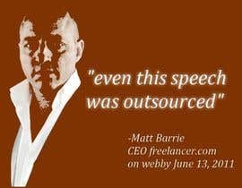 #1188 untuk Need a 5 word speech for Freelancer CEO Matt Barrie for the Webbys! oleh algie123