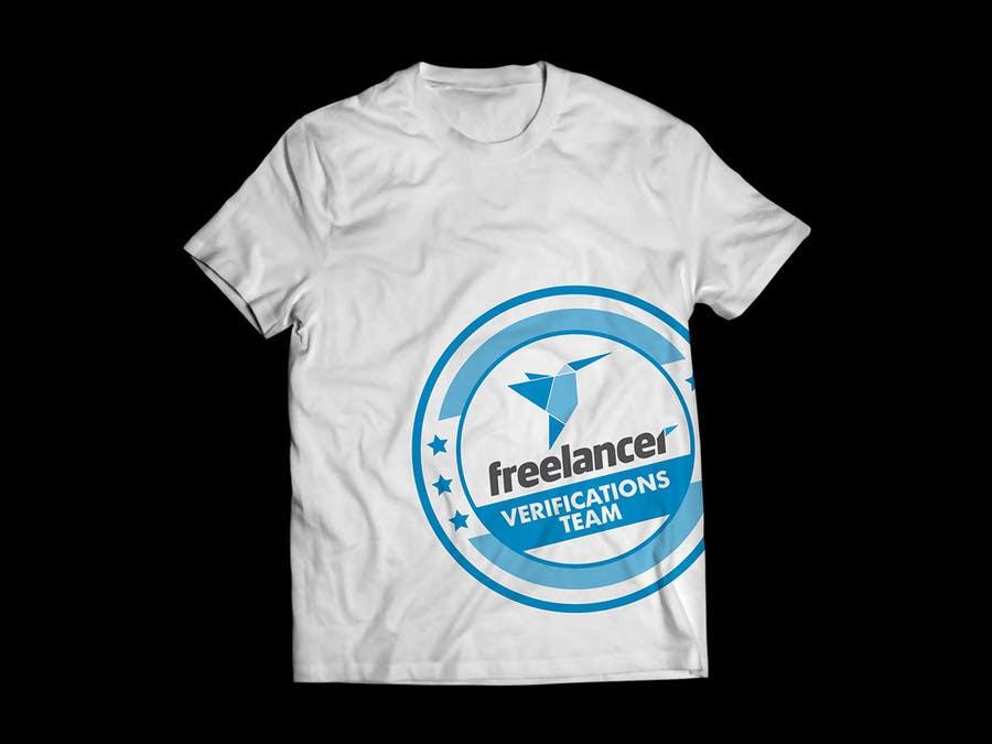Contest Entry #                                        32                                      for                                         Design a T-Shirt for Freelancer.com's Verifications Team