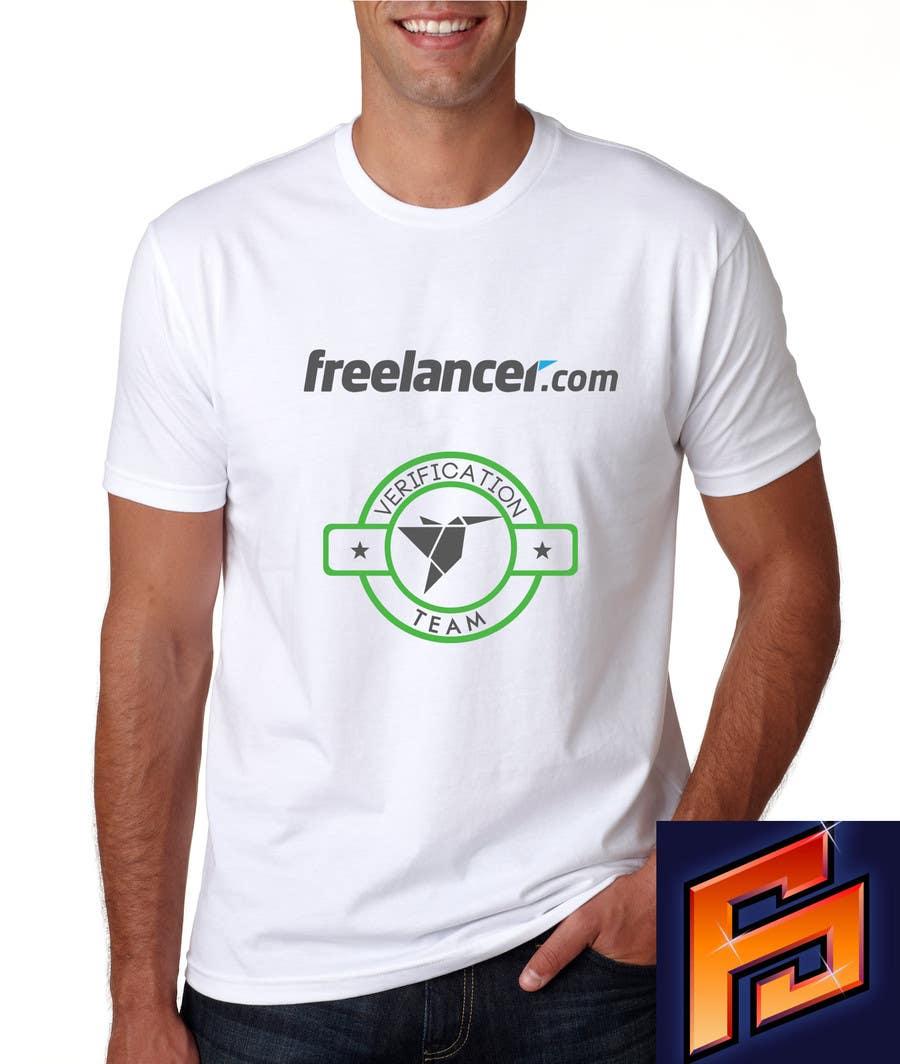 Contest Entry #                                        6                                      for                                         Design a T-Shirt for Freelancer.com's Verifications Team