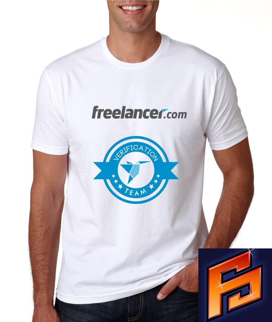 Contest Entry #                                        30                                      for                                         Design a T-Shirt for Freelancer.com's Verifications Team
