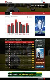 "#9 cho Simple website layout for ""Football prediction"" bởi ankisethiya"
