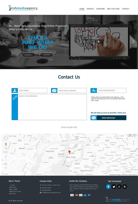 Konkurrenceindlæg #28 for Design a Website Mockup for Irish Media Agency