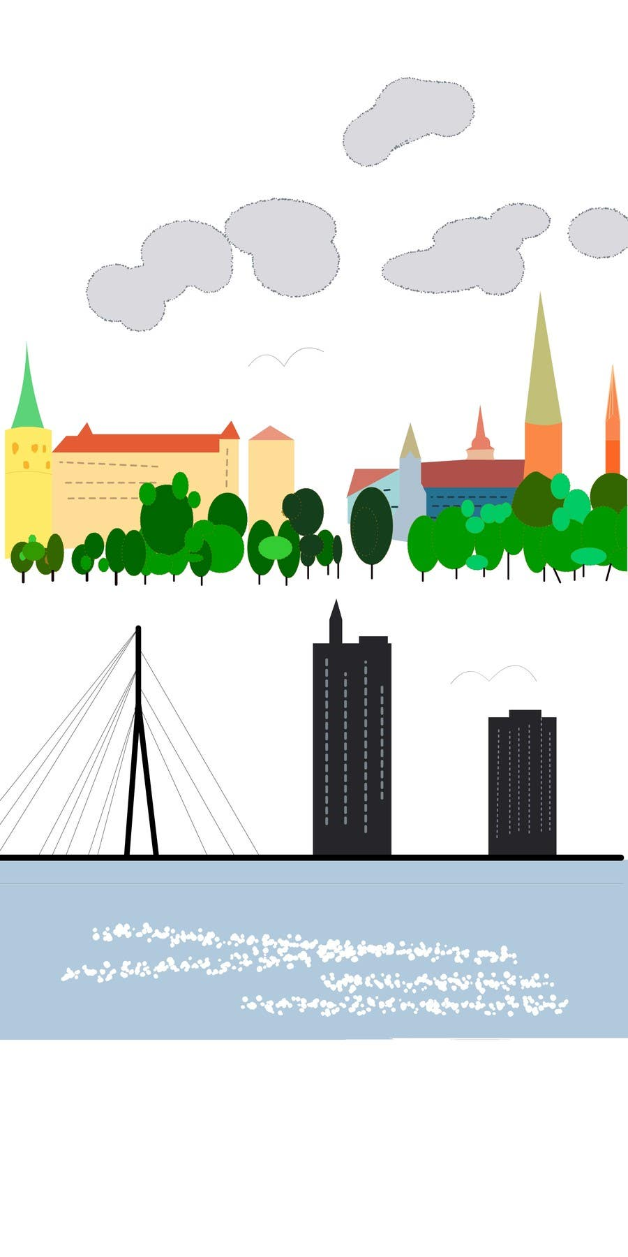 Contest Entry #                                        9                                      for                                         City panorama cartoon illustration