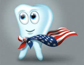 #4 para Tooth with American flag por Piraruka