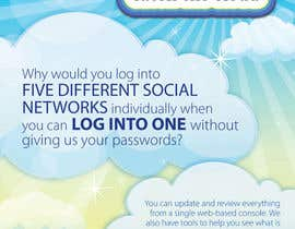 #72 untuk Full-Page Advertisement Design for Social Networking Website oleh eliespinas