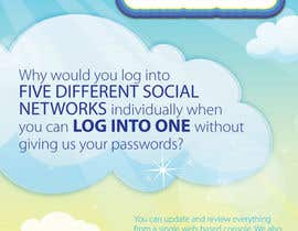 #1 untuk Full-Page Advertisement Design for Social Networking Website oleh eliespinas