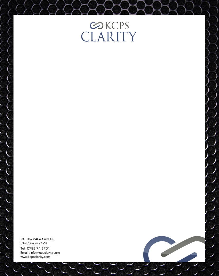 Inscrição nº 117 do Concurso para Design Stationery for KCPS Clarity