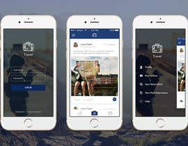 #24 untuk Design an App Mockup for travel social network oleh kadyanasantos